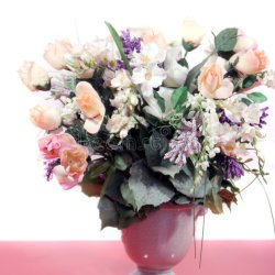 Beautiful Pink Roses and Mixed Flowers Stock Image Image Of