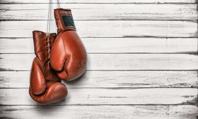 Boxing Gloves Hanging On Wooden Wall Stock Image - Image of active, defeat: 44775423