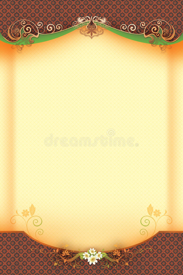 Classic Background With Fl And Swirl Stock
