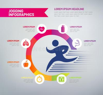 Jogging Infographics - Healthy Lifestyle Stock Vector ...