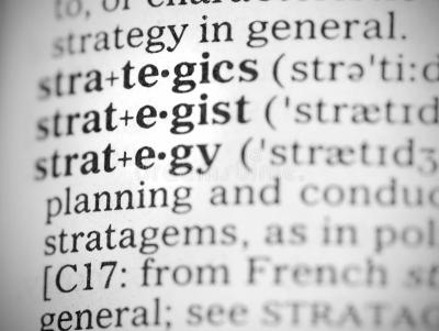 Macro Image Of Dictionary Definition Of Strategy Stock Photo - Image: 32086764