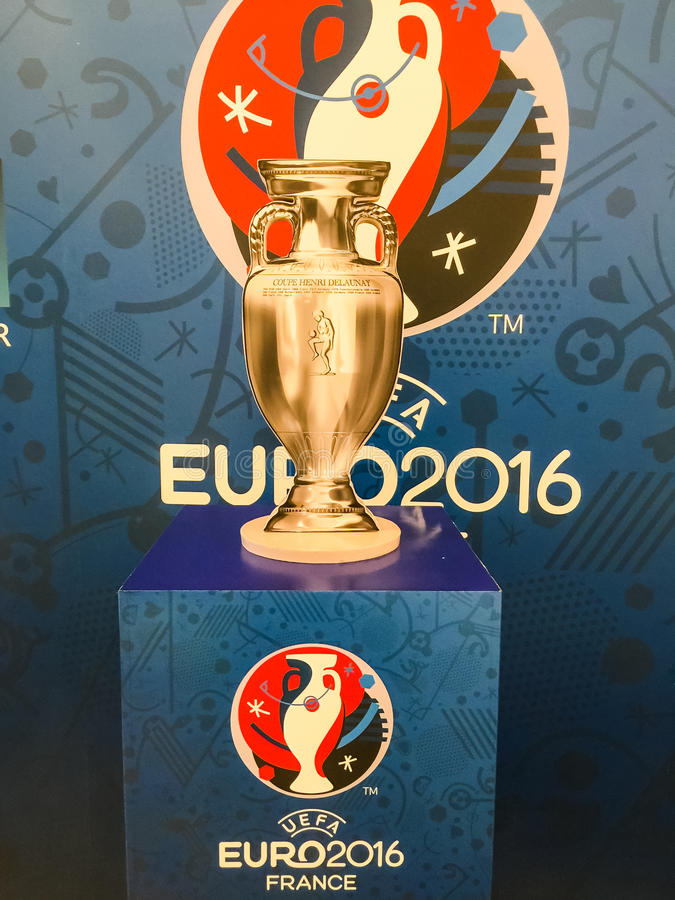 Model Of Champion Cup For The 2016 UEFA European Championship In     Download Model Of Champion Cup For The 2016 UEFA European Championship In  Editorial Image   Image