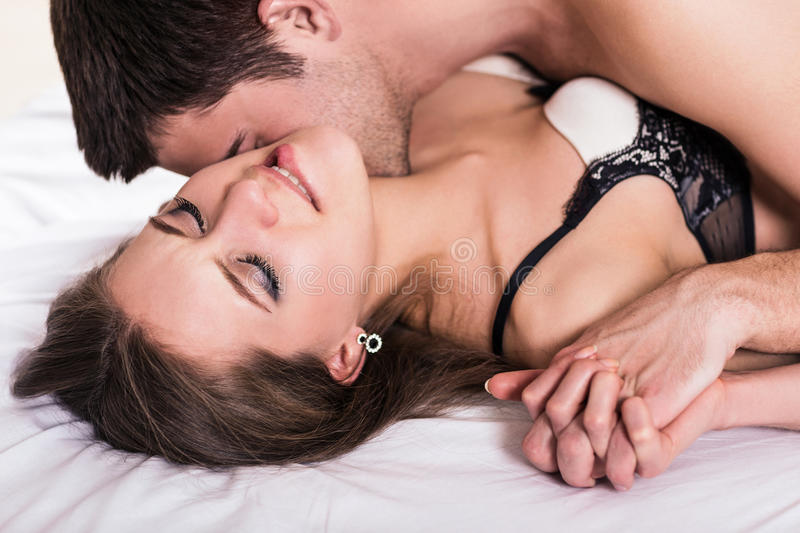 Young Romantic Couple Hugging And Kissing Stock Photo Image Of Female Closeness