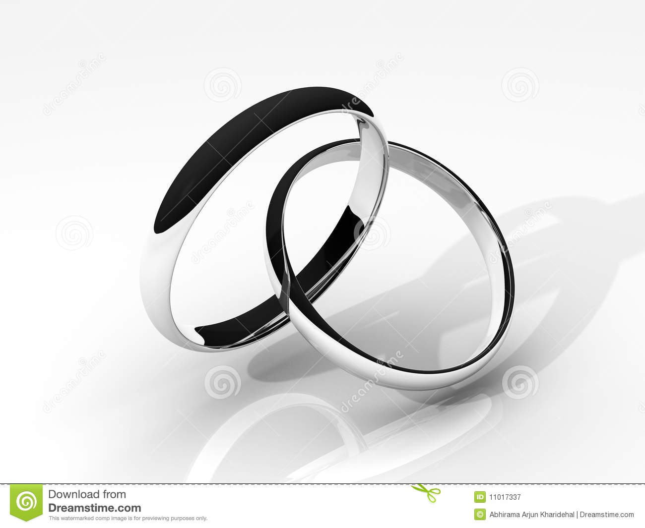 royalty free stock photography 3d silver wedding rings image silver wedding ring 3D Silver Wedding Rings
