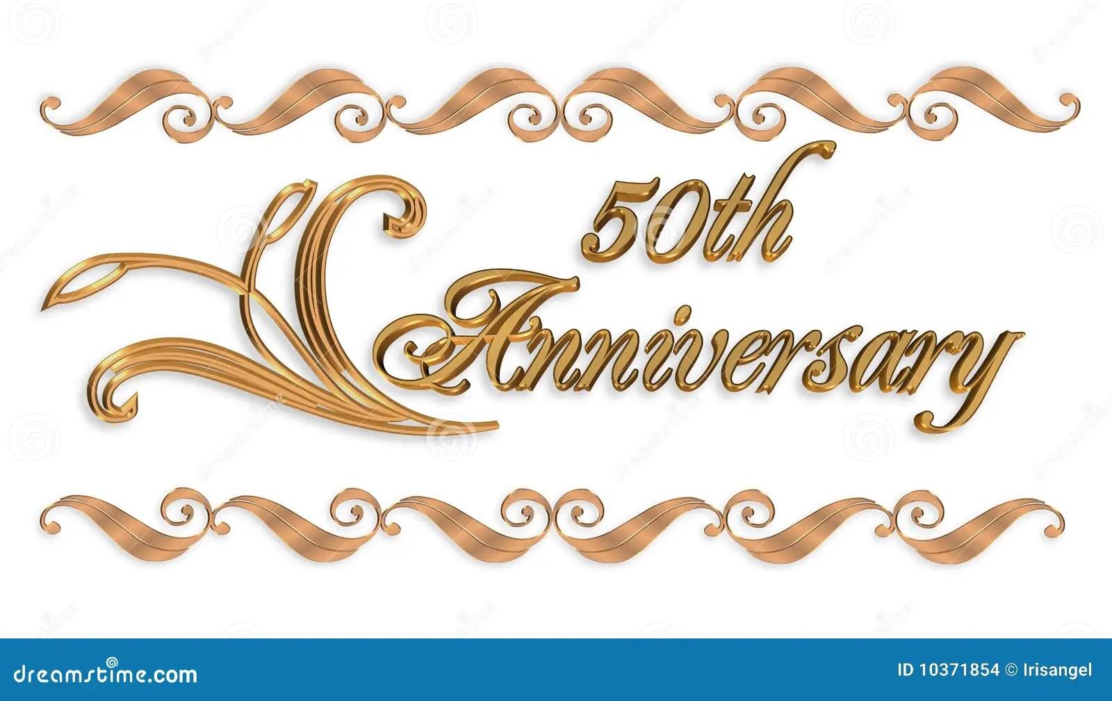 50th wedding anniversary border 50th wedding anniversary 50Th anniversary invitation Stock Images