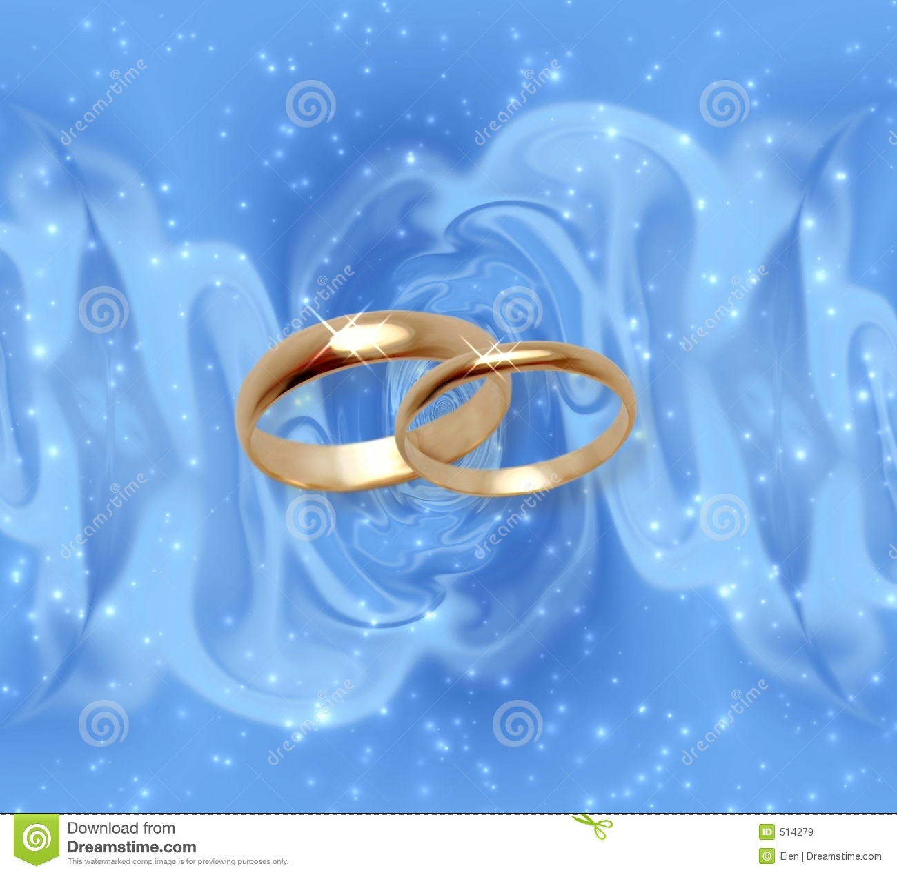 royalty free stock image wedding rings blue drapery image blue wedding rings Abstract snow background with wedding rings Royalty Free Stock Images