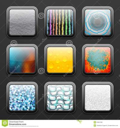Background For The App Icons Set Stock Photography - Image: 35967282