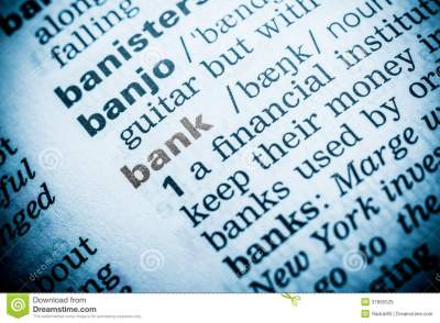 Bank Word Definition Royalty Free Stock Images - Image: 37895529