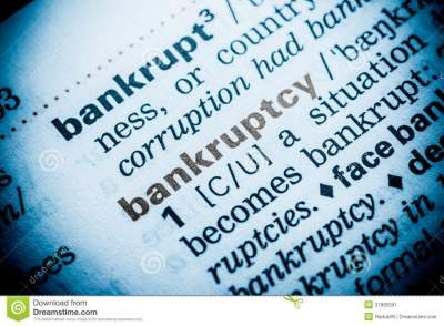 Bankruptcy Word Definition stock image. Image of literacy - 37895581