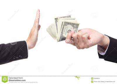 Business Man Refusing Money Offered Royalty Free Stock Photo - Image: 30699625