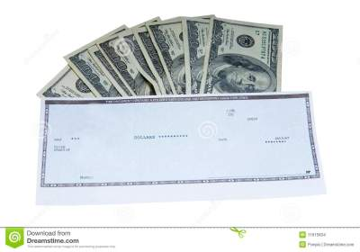 Cash and Check stock photo. Image of cash, american ...