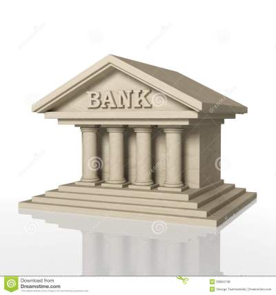 3D Render Of Bank Building With Reflection Royalty Free Stock Photos - Image: 33864748