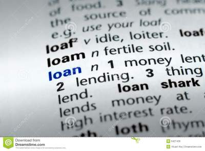 Definition Of Loan Royalty Free Stock Photos - Image: 6427438