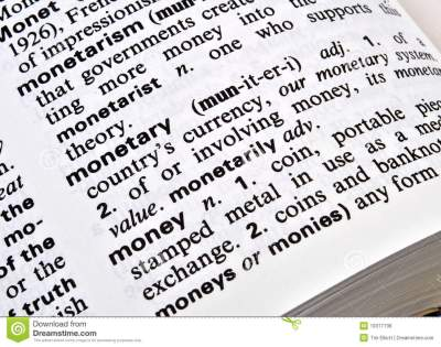 Definition Of Money Royalty Free Stock Image - Image: 19377736