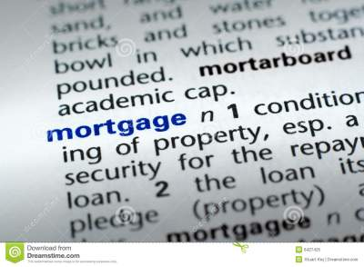 Definition of Mortgage stock image. Image of credit, foreclosure - 6427425