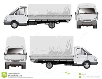 Delivery / cargo truck stock vector. Illustration of commercial - 3499501