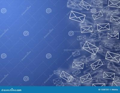 Digital Mail Background Stock Image - Image: 12587251