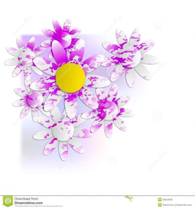 Floral Background Into Corner Royalty Free Stock Images - Image: 34254569