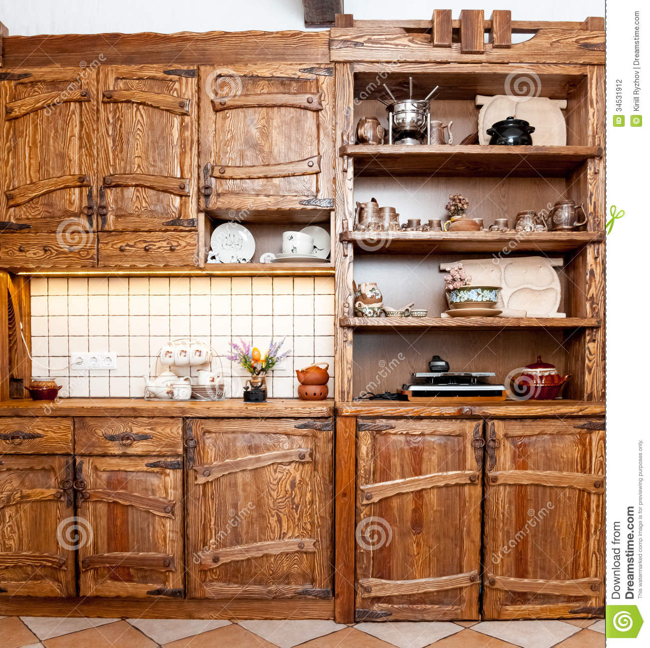 stock photography furniture kitchen country style wooden image kitchen wooden chairs Furniture for kitchen in country style