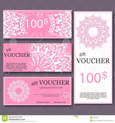 Gift Voucher Template With Mandala. Design Certificate For ...