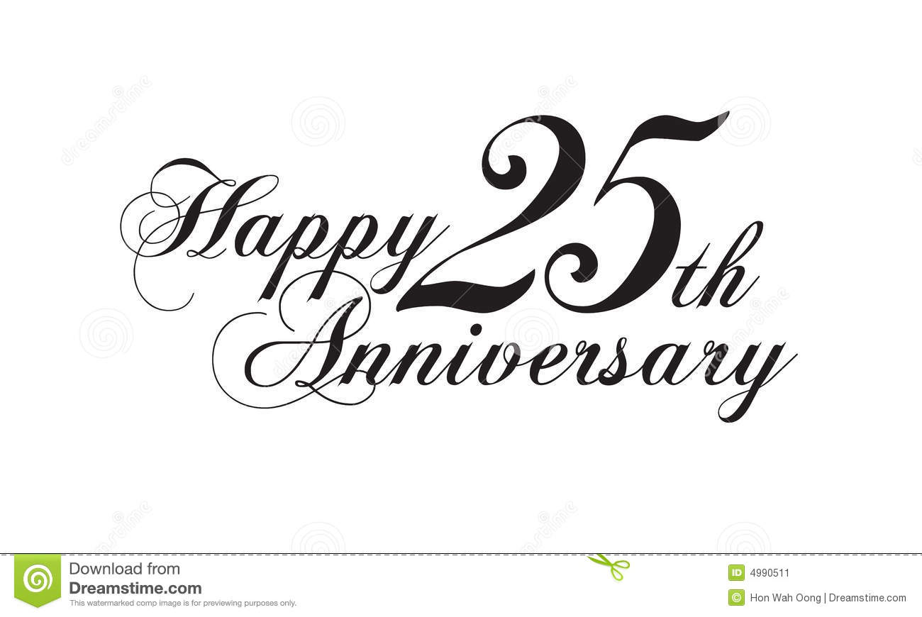 royalty free stock photography 25th wedding anniversary invitation image 25 wedding anniversary Happy 25th anniversary Stock Image