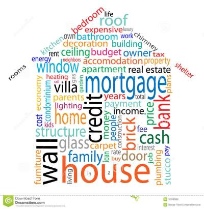 House Word Cloud Royalty Free Stock Images - Image: 16140069