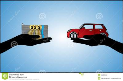 Car Loan Illustration - Hand Silhouette And Beauti Stock ...