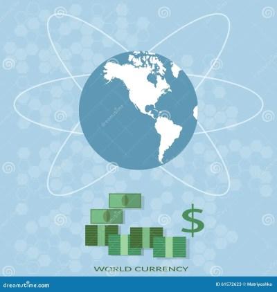 International Finance World Map Global Money Business Stock Vector - Illustration of connection ...