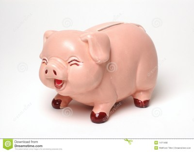 Laughing Piggy Bank On White Stock Photo - Image of save, financial: 1471468