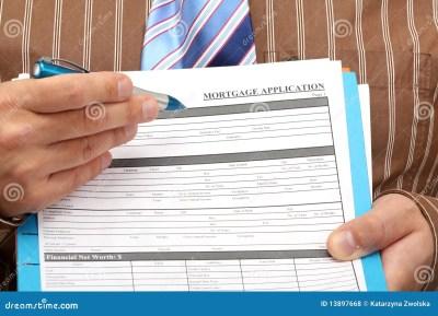 Mortgage Application Royalty Free Stock Photos - Image: 13897668