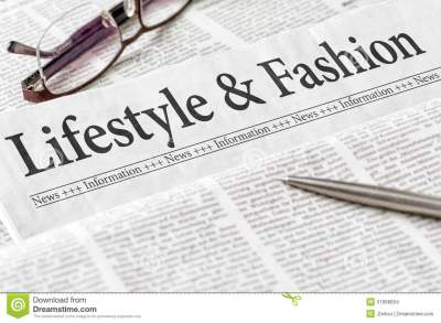 Newspaper With The Headline Lifestyle And Fashion Stock ...