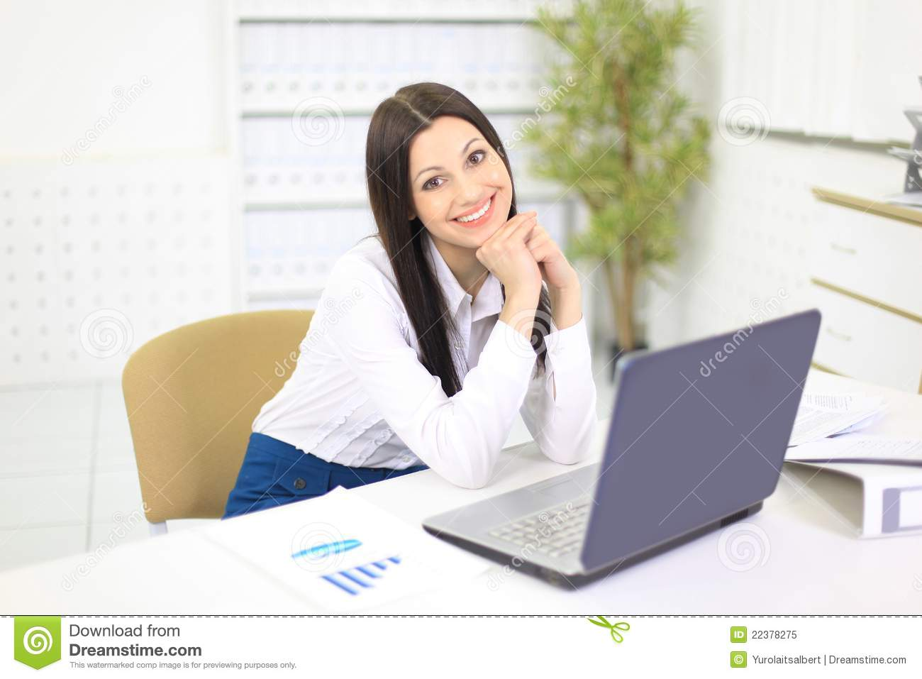 nice business woman in the office person o