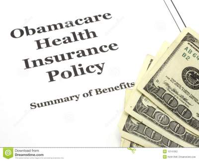 Obamacare Costs Cash Stock Photography - Image: 13741052