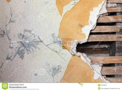 Old Wallpaper Wall stock image. Image of ripped, board - 26795627