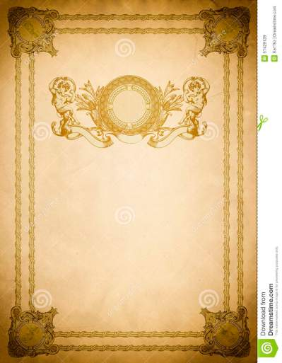 Old Paper Backdrop With Old-fashioned Decorative Border. Stock Photo - Image of copy, grunge ...