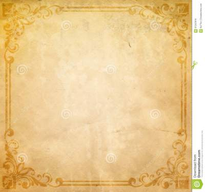 Old Paper Background With Old-fashioned Border. Stock Image - Image of rusty, spotted: 67247819