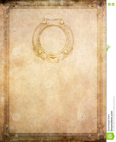 Old Paper Background With Vintage Border And Frame. Stock Image - Image of border, close: 74082461