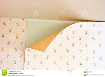 Old Peeling Wallpaper Home Repair Maintenance Stock Image - Image: 22836103