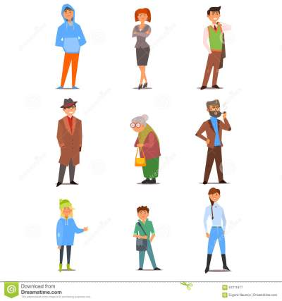 People Of Different Lifestyle, Age And Profession Stock ...