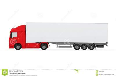 Red Cargo Delivery Truck Royalty Free Stock Image - Image: 38504906