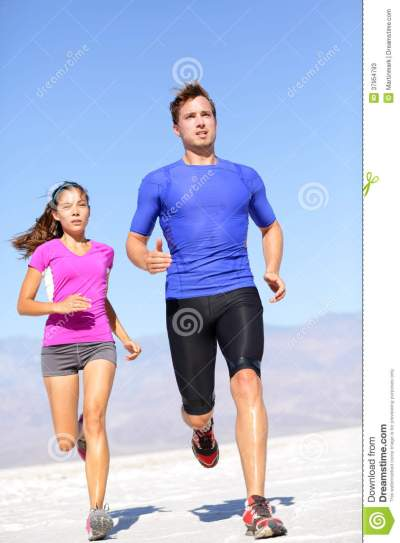 Running Sport Athlete Man Sprinting In Trail Run Stock ...