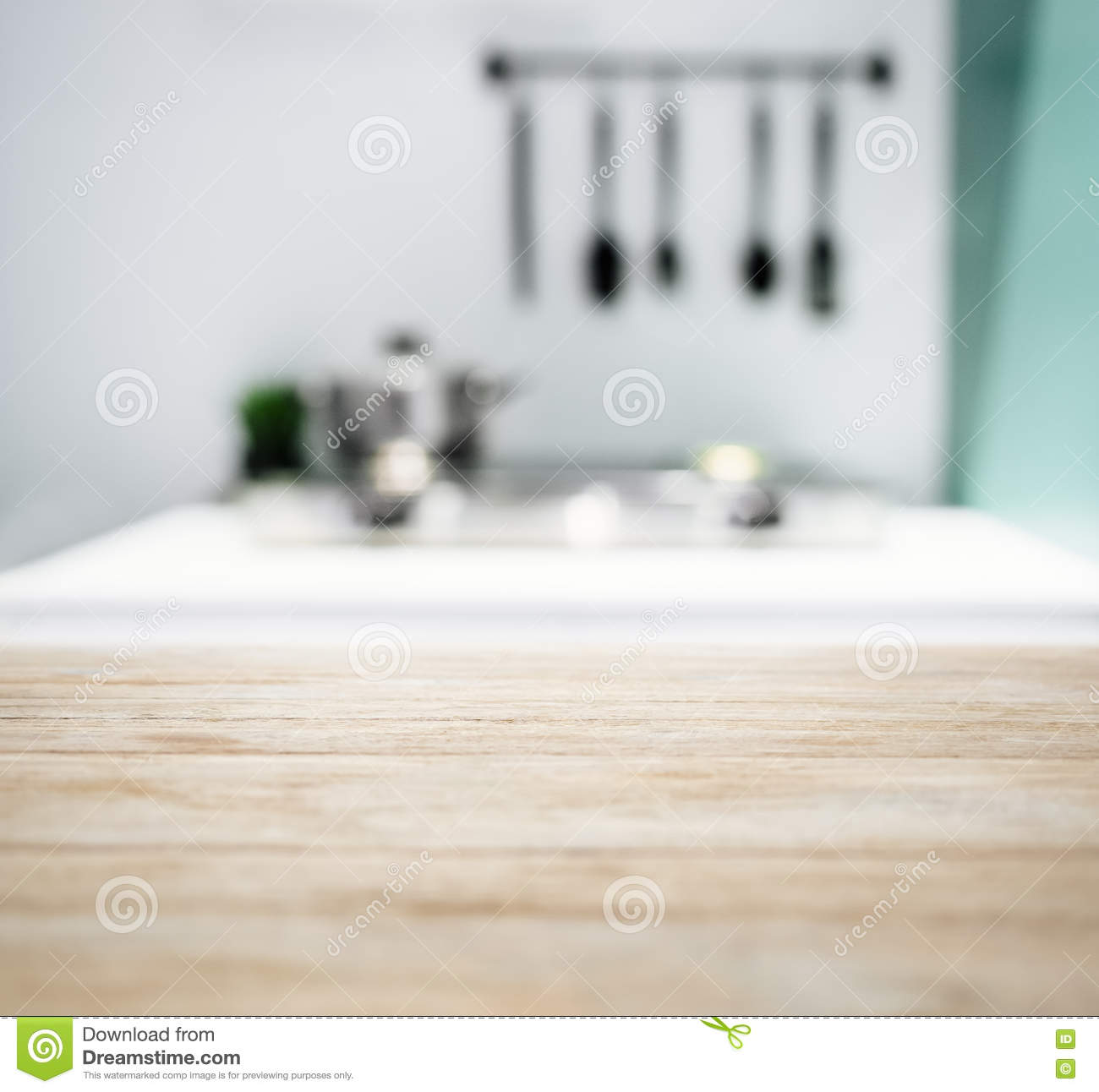 table top blurred kitchen counter home interior background modern style 71602821