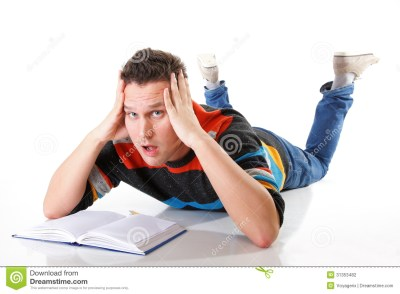 Tired College Student After Hard Work For Exam Stock Photography - Image: 31353482