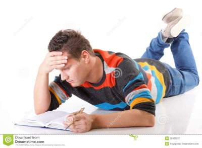 Tired College Student After Hard Work For Exam Royalty Free Stock Photography - Image: 32429227