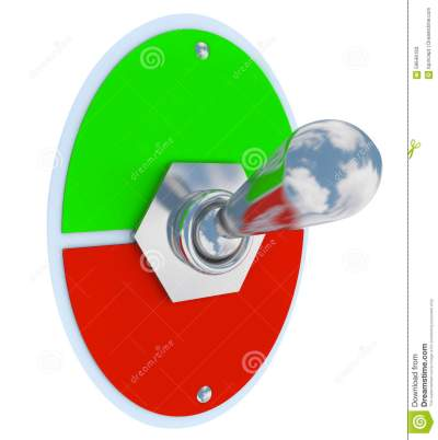 Toggle Switch Flip Up Down On Off Lever Blank Copy Space Stock Illustration - Illustration: 59646163