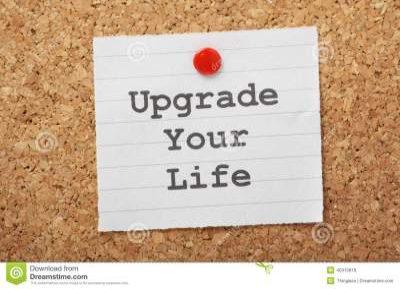 Upgrade Your Life Stock Photo - Image: 40315816