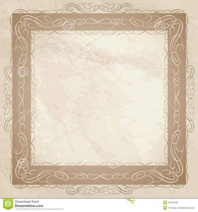 Vintage Frame Background. Retro Textured Wallpaper. Stock Illustration - Illustration of ...