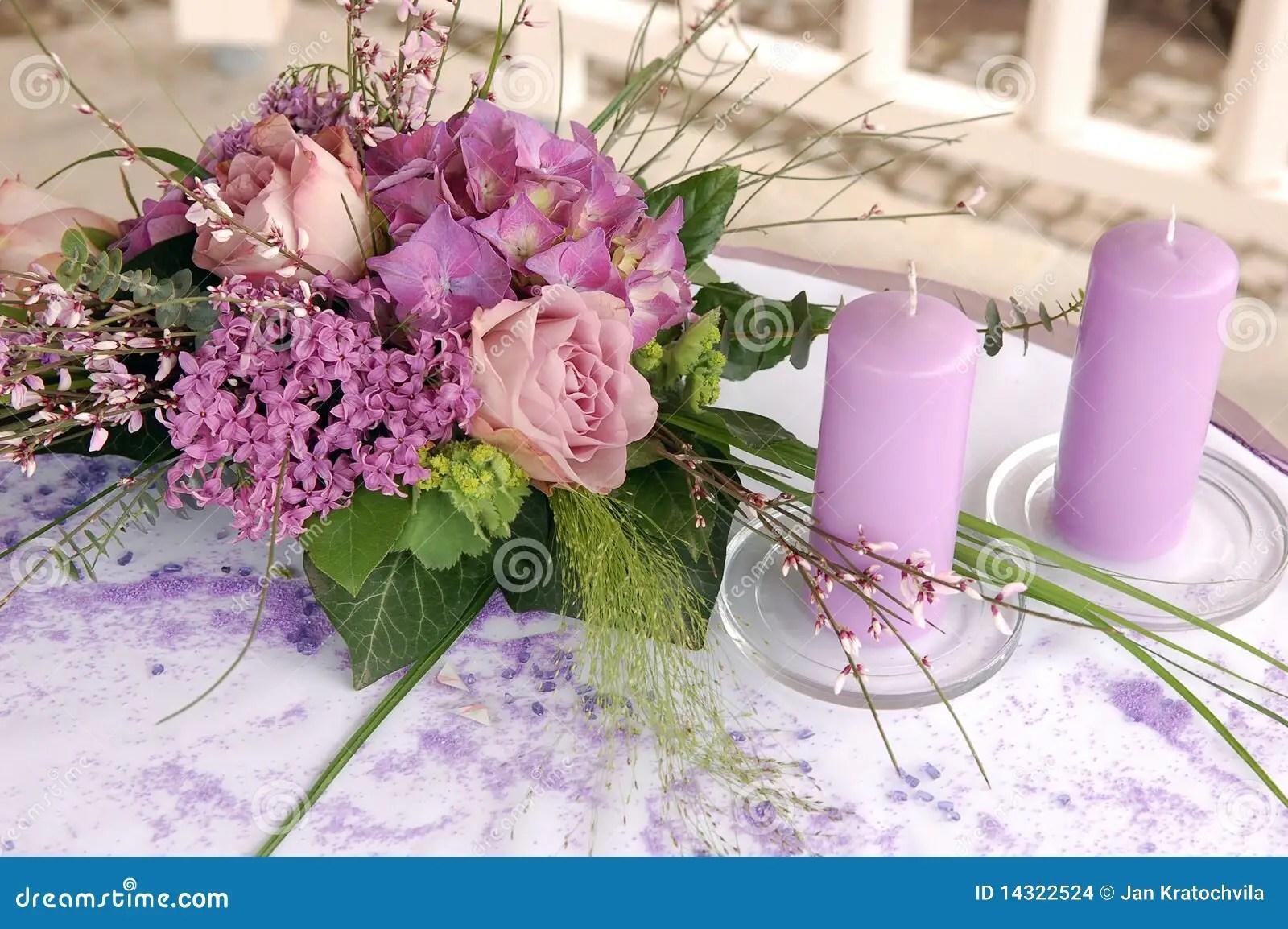 royalty free stock photo wedding decoration image wedding decoration Violet wedding decoration Stock Images