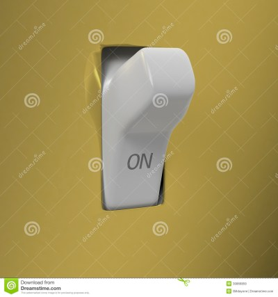 Wall Switch Set To ON Royalty Free Stock Images - Image ...