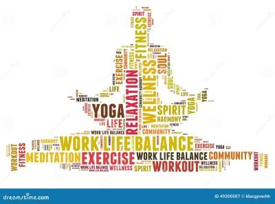 Work life balance stock illustration. Illustration of body ...